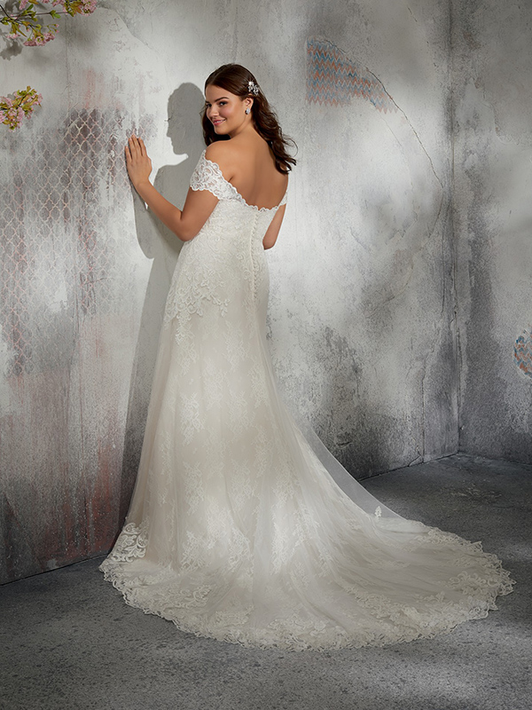 Mori Lee Laverna reverse Wedding Gown Leeds