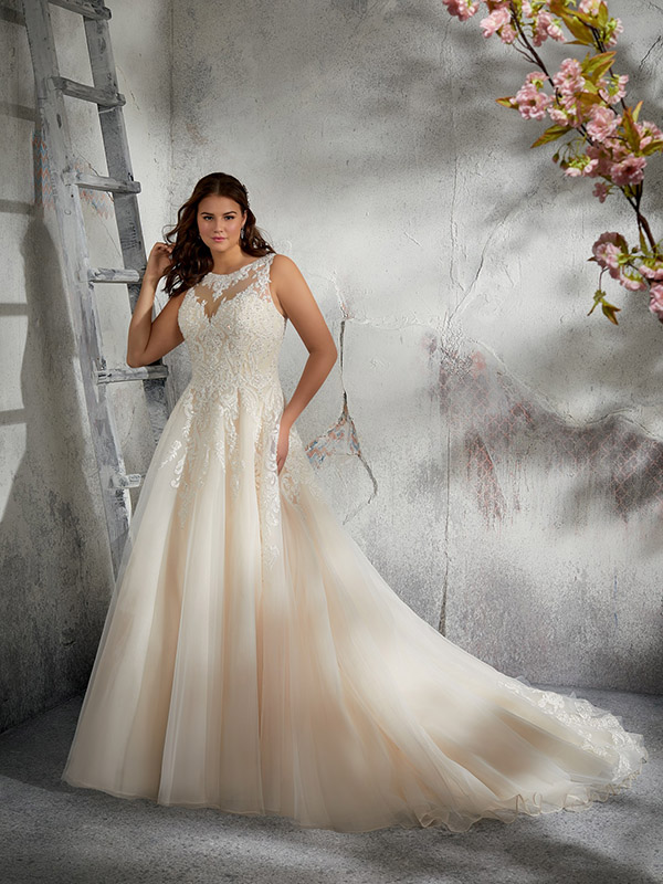 Mori Lee Leah front Wedding Gown Leeds