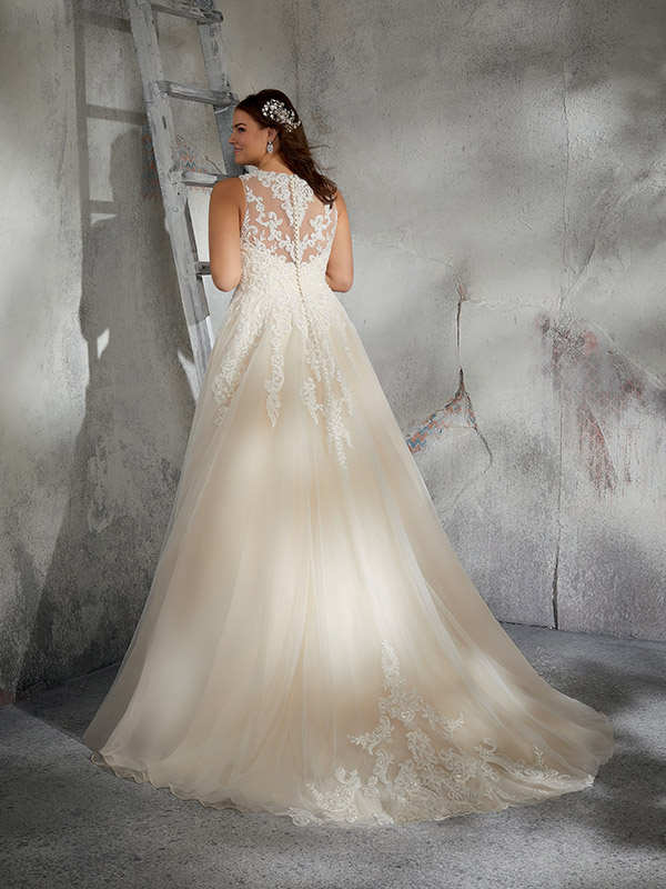 Mori Lee Leah reverse Wedding Gown Leeds