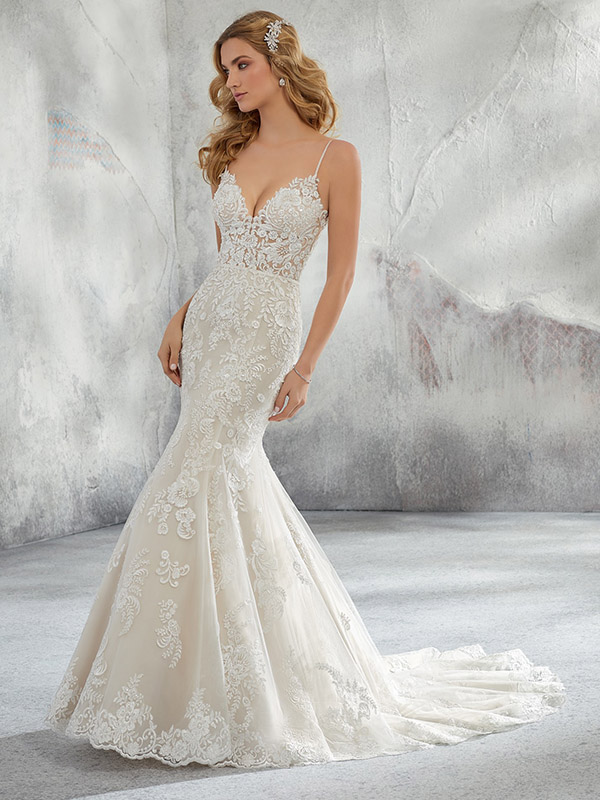 Mori Lee Lunetta front Wedding Gown Leeds