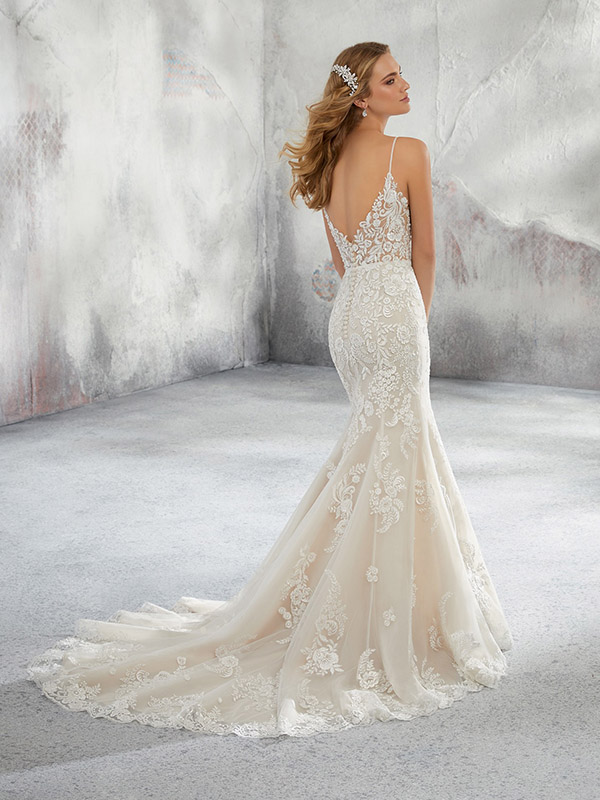Mori Lee Lunetta reverse Wedding Gown Leeds