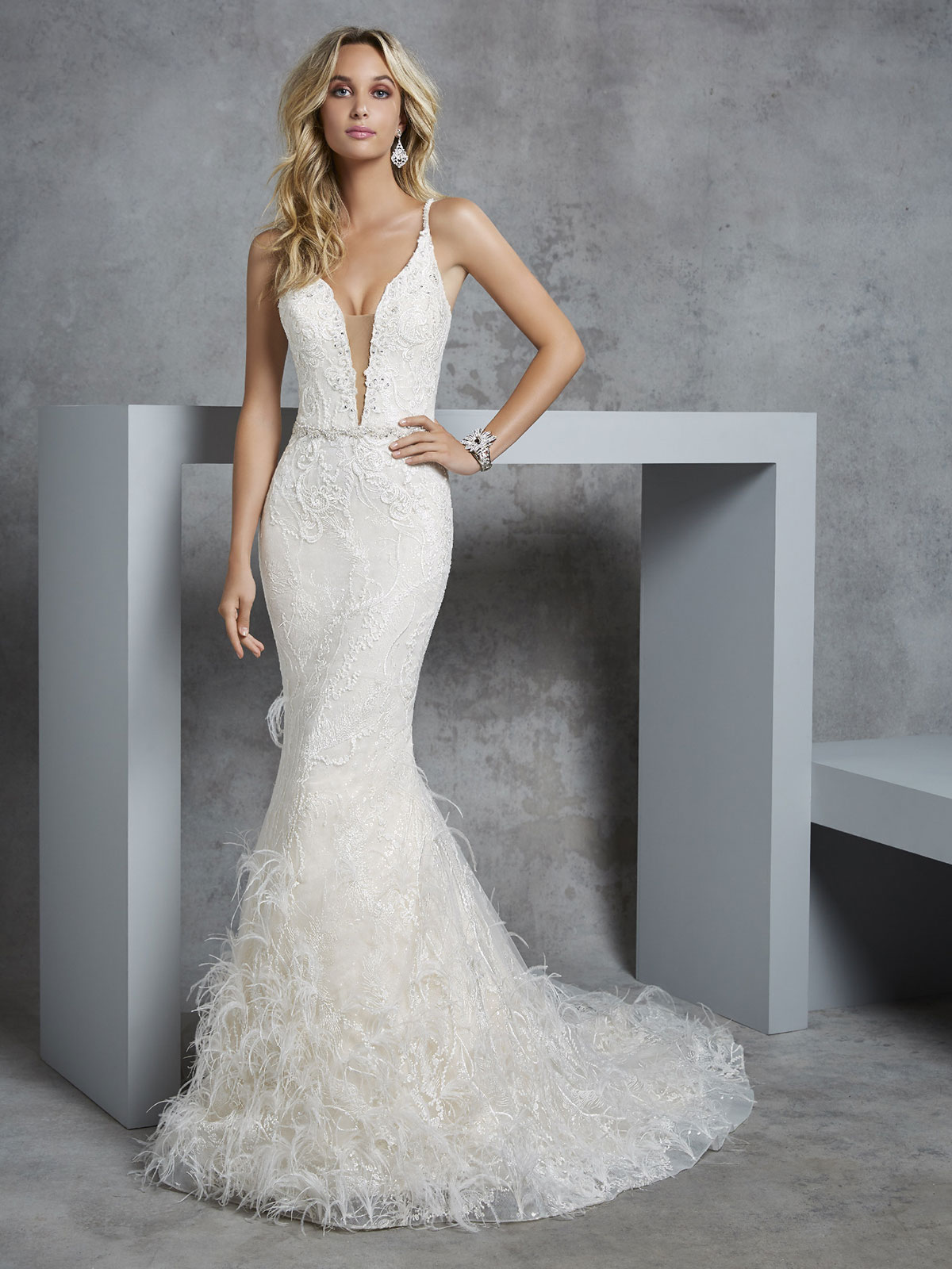 Ronald Joyce - Carleen Front Wedding Gown Leeds