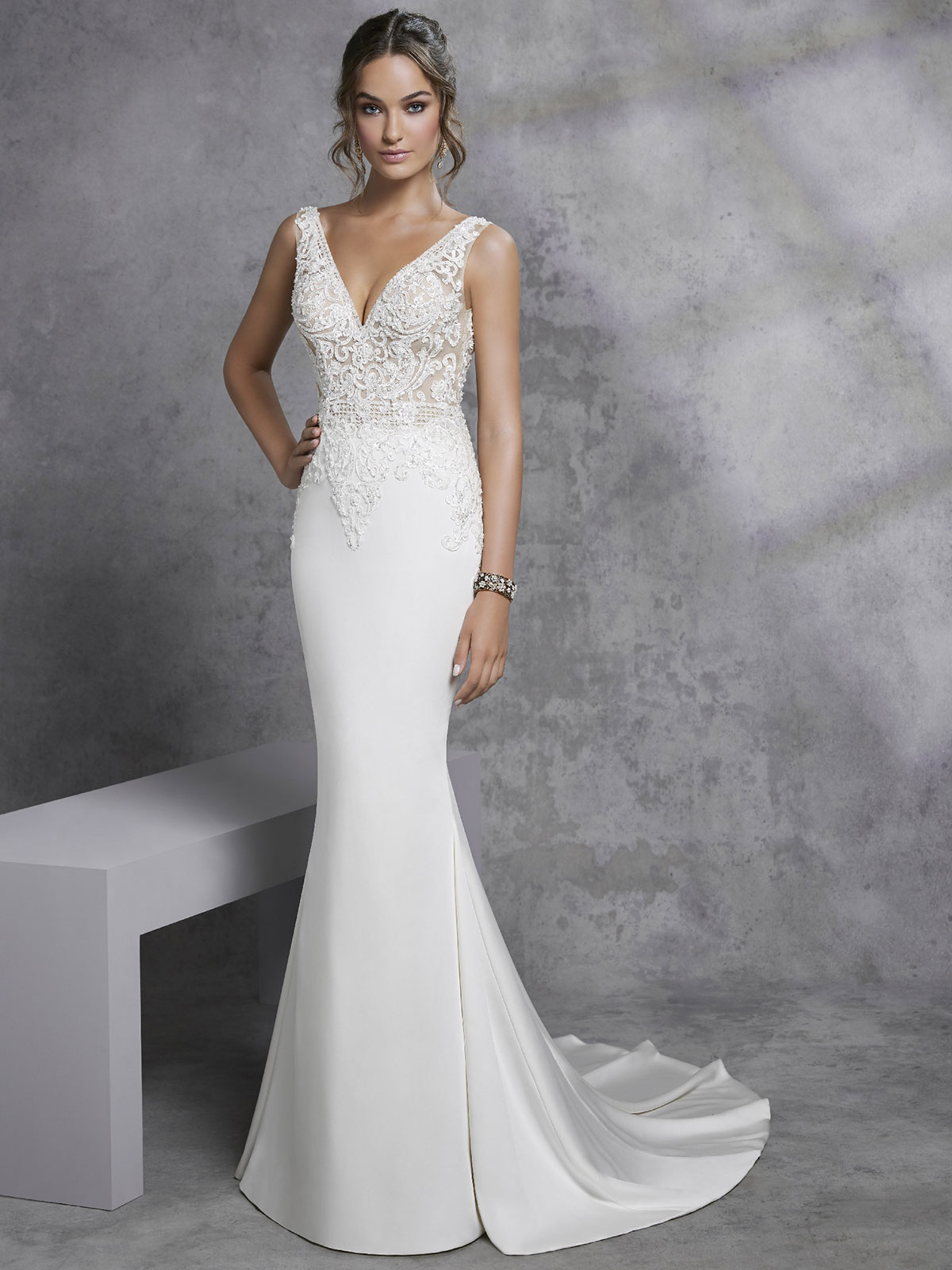 Ronald Joyce - Imola Front Wedding Gown Leeds